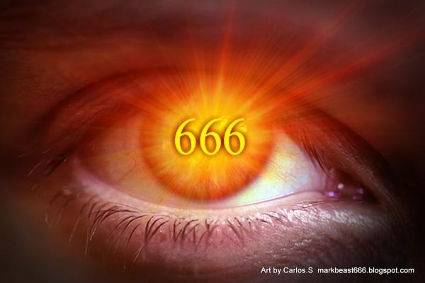 Ativismo Satânico - Imagem de olho com numero 666