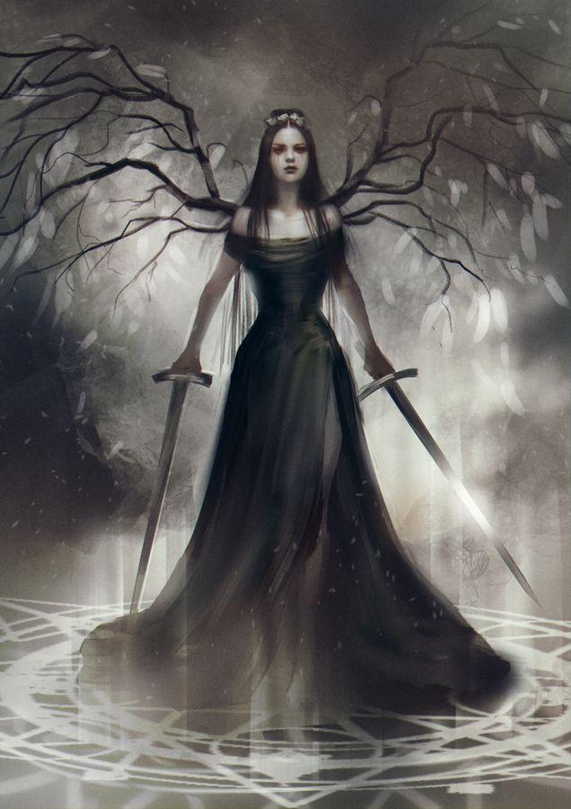A verdade sobre poções do amor: imagem de uma bruxa em preto e branco