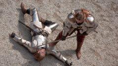 Soldados medievais em batalha